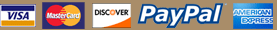 Visa Mastercard Paypal Discover American Express Payment Logos